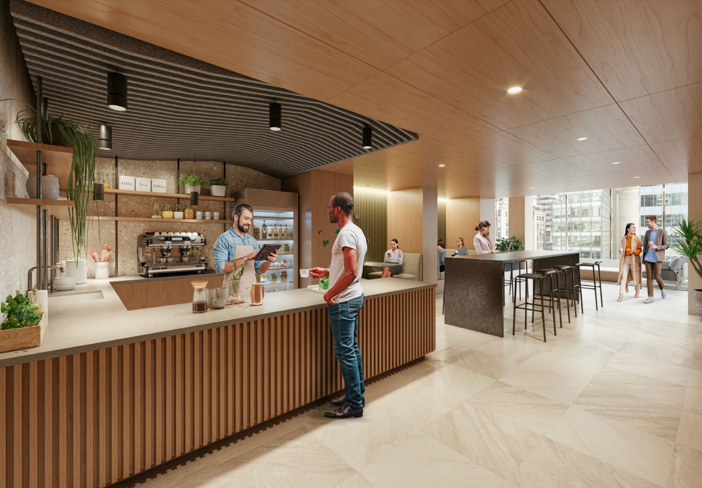 Barista Bar at The Water Tower Lounge Amenity Center